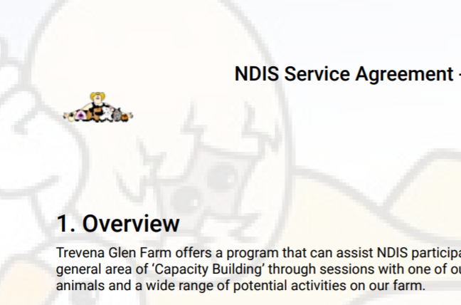Service Agreement Background